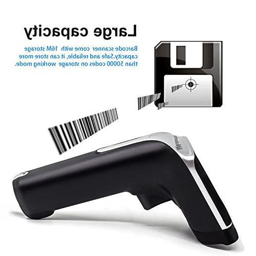 USB Wireless Scanner,Symcode with Vibration Cordless 1D Barcode Code USB Receiver Warehouse