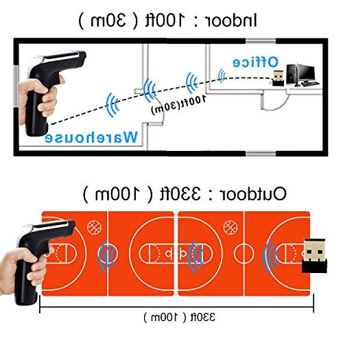 USB with Cordless Laser Barcode Handhold Bar Code with USB Receiver Store, Warehouse