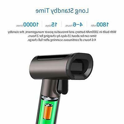 1D 2D QR Bluetooth Wireless Barcode Scanner, 3-in-1