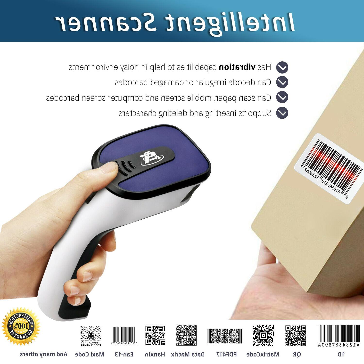 1D/2D Wireless Bluetooth Scanner: QR