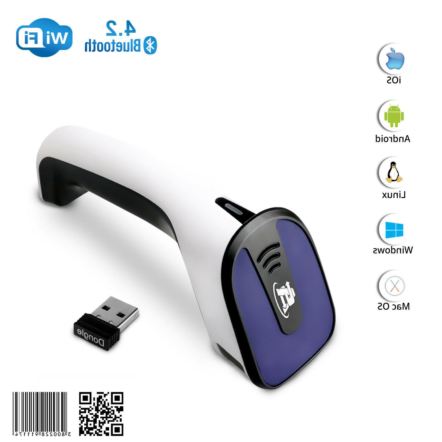 1d 2d wireless bluetooth barcode scanner 3