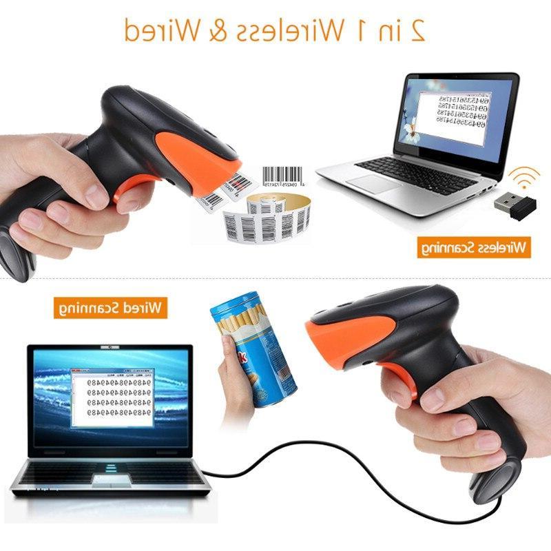 2.4G Portable USB Laser <font><b>Scanner</b></font> Supermarket laptop