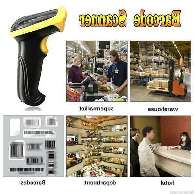 2.4G Laser Scanner Scan Gun Label New