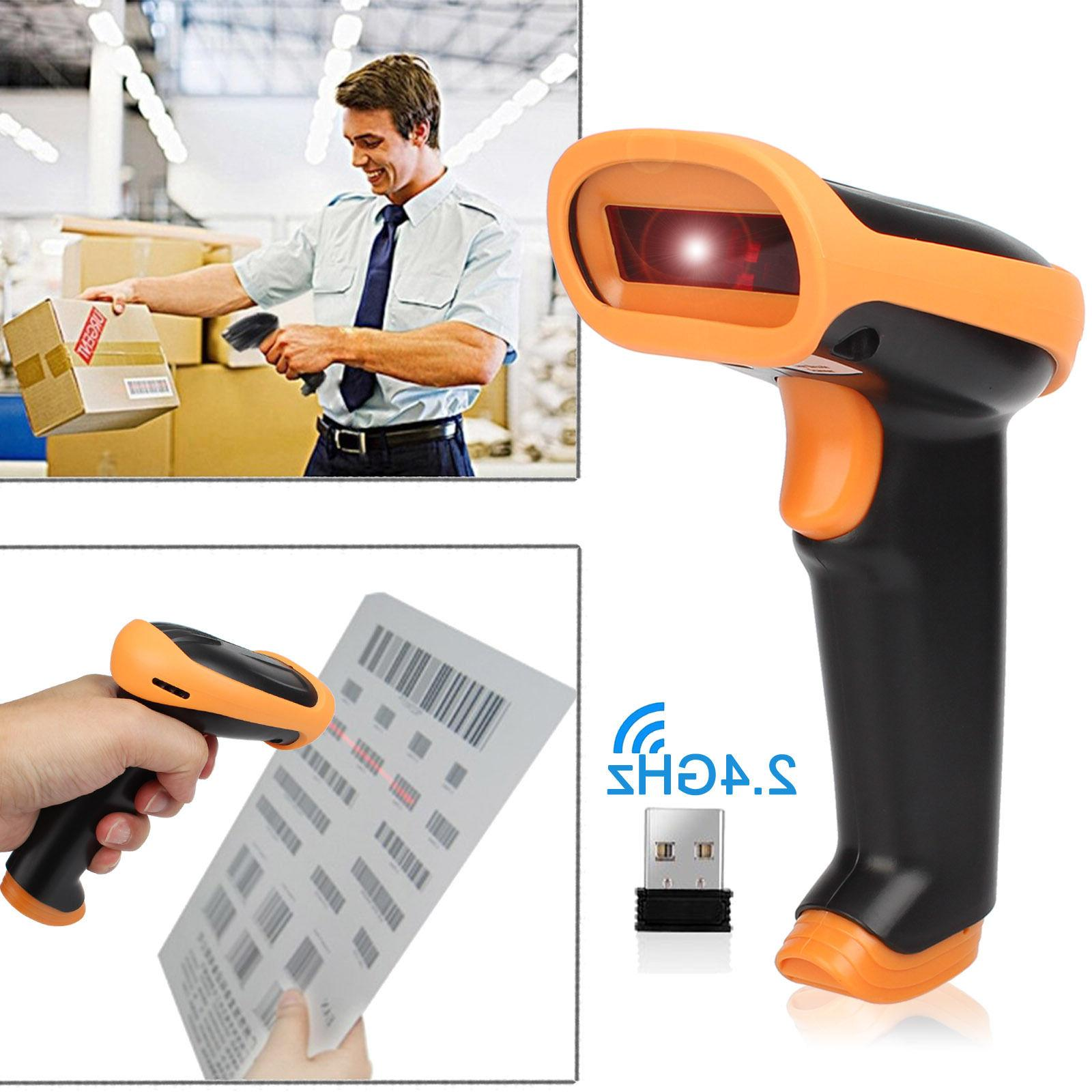2.4G USB Wireless Cordless Portable 1D/2D/QR Barcode Scanner