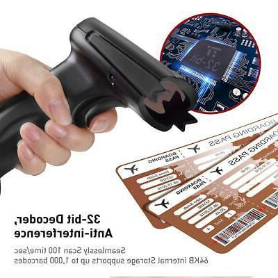 TaoTronics Handheld Barcode Bar Scanner Reader