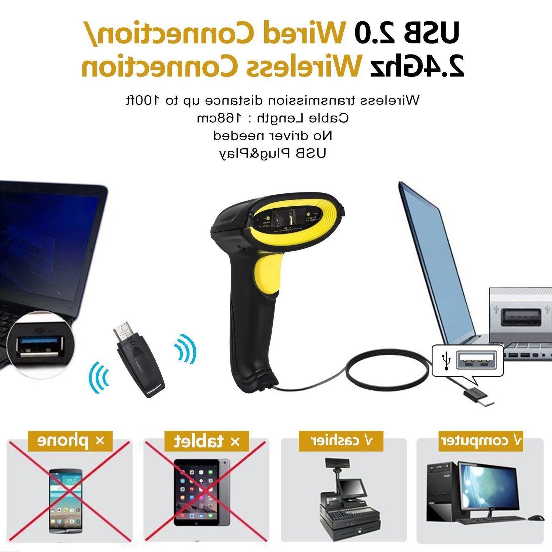 2.4G Wired Handheld Wifi Laser POS Scanner