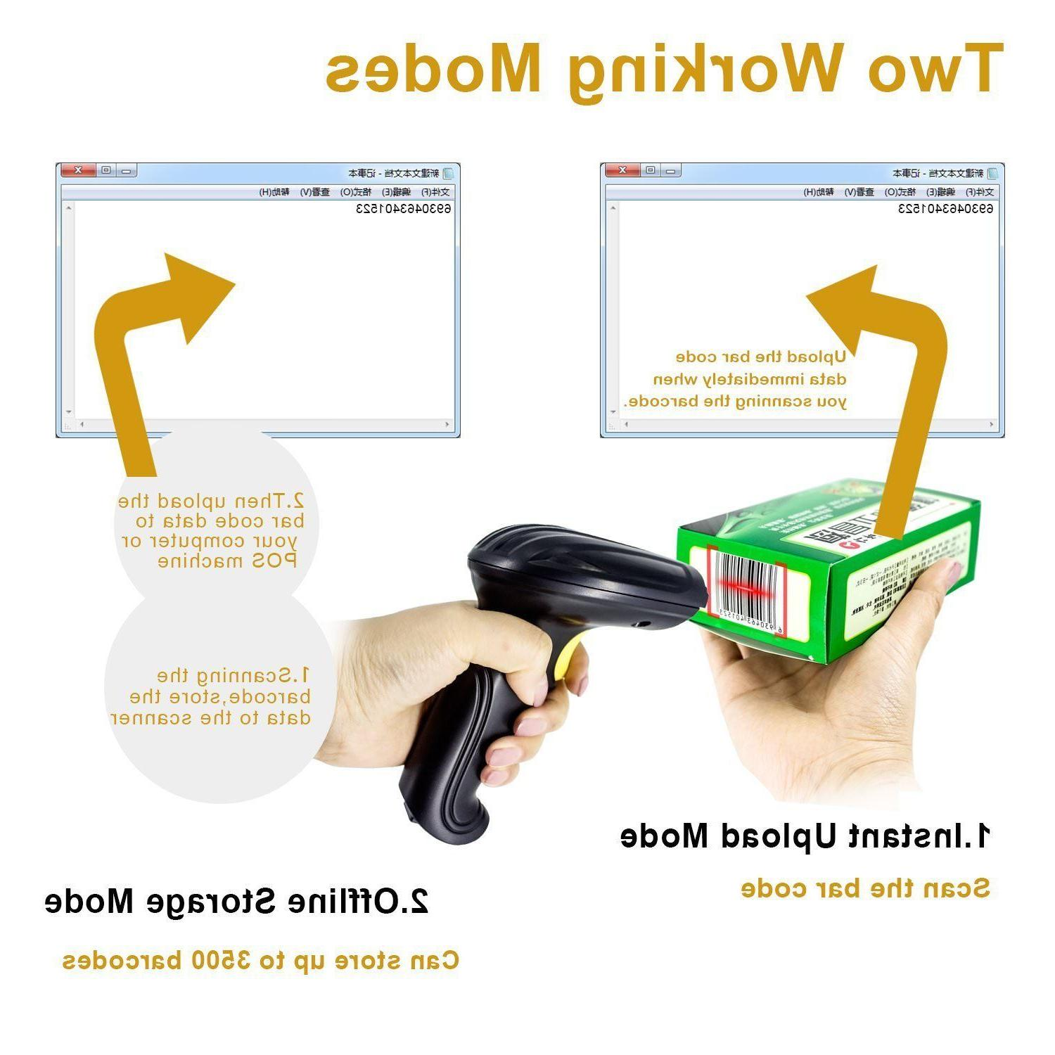 2.4G Or Wired Handheld Wifi Barcode POS Scanner Reader