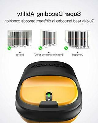 2.4GHz 1D Barcode Scanner, 2600mAh 60M Range, Automatic