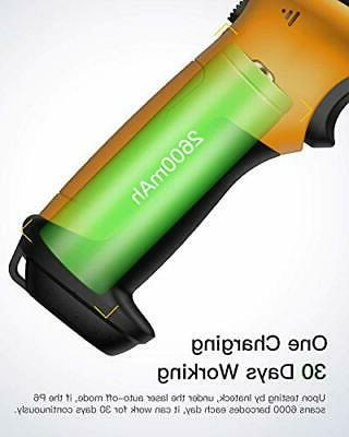 2.4GHz 1D Scanner, Battery, Range, Automatic Scann