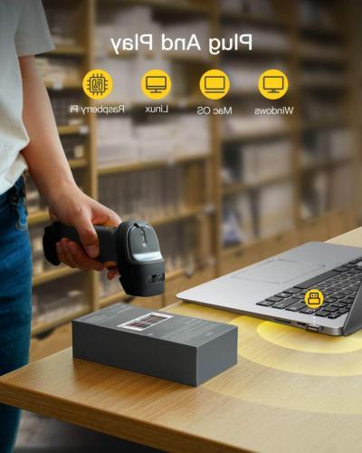 2.4GHz Wireless Barcode Scanner 2600mAh BCST-60