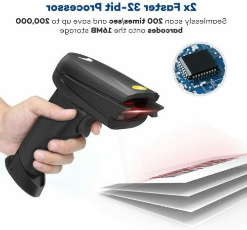 TaoTronics 2-in-1 USB Barcode Scanner &