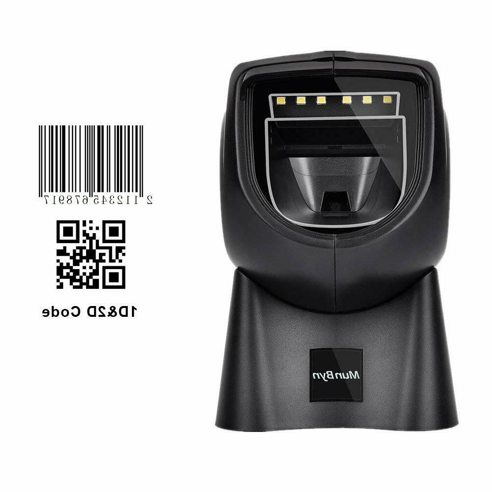 2d 1d hands free barcode scanner w