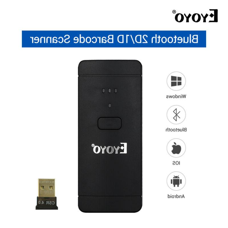 Eyoyo Wireless Bluetooth 2D/1D/QR Barcode Scanner Handheld F