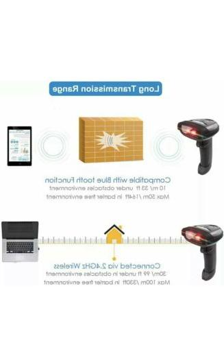 NETUM 2D Barcode Scanner 2.4G & USB Wired Connection