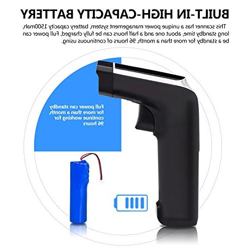 USB Barcode with Vibration Alert Cordless 1D Barcode Code Scanner with Receiver for Store, Warehouse