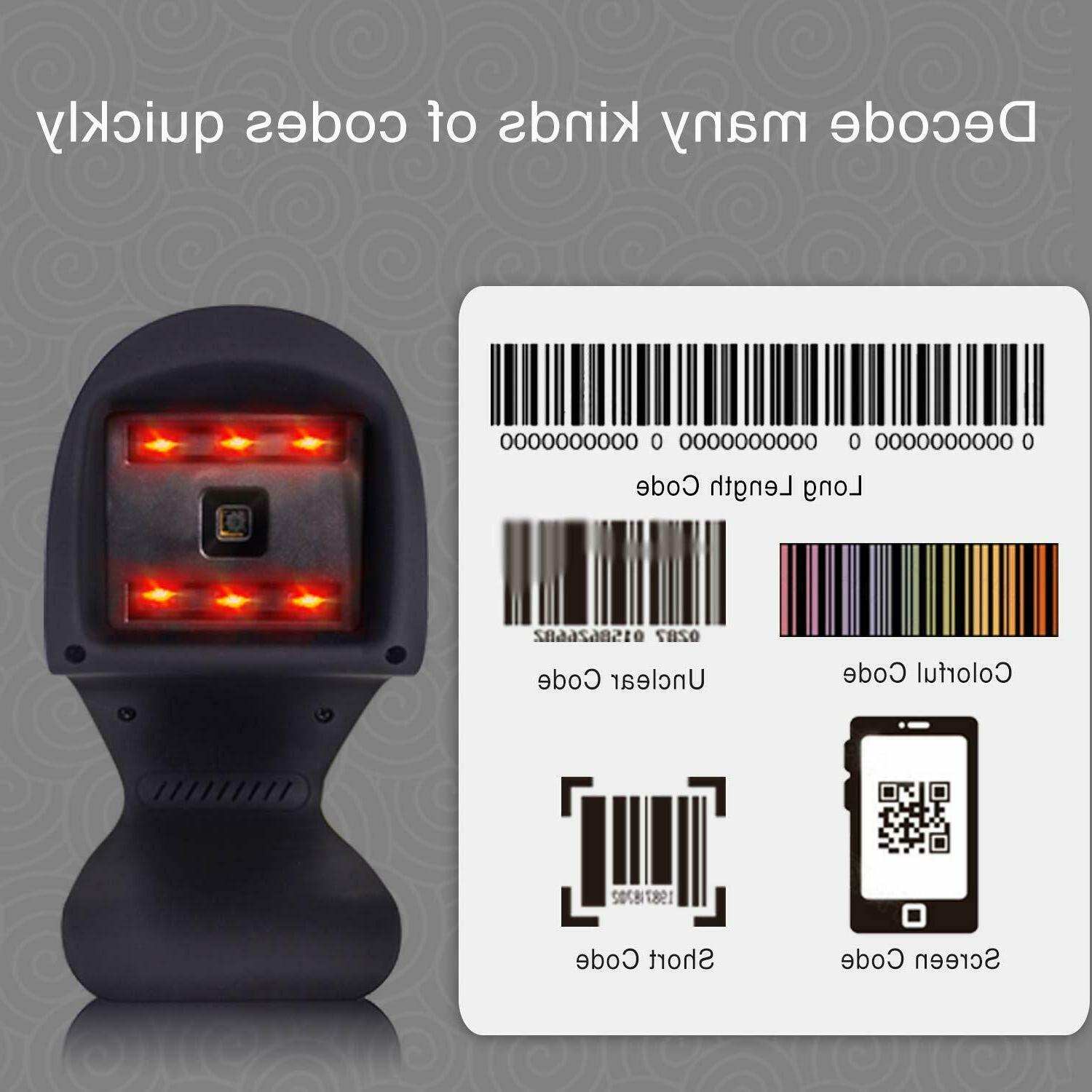 2D Barcode Omnidirectional Hands-Free