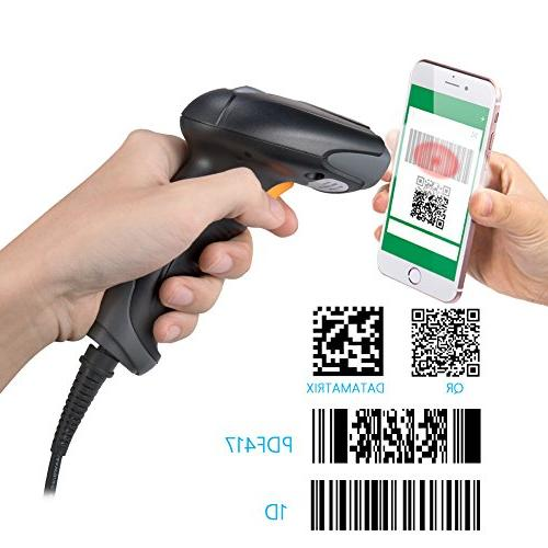 Bluehresy Barcode USB 1D Handheld Reader and Bar Code Scan, POS