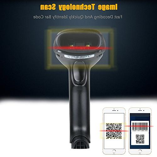TaoHorse 2D QR Scanner Wired Code for Mobile Screen Matrix Aztec
