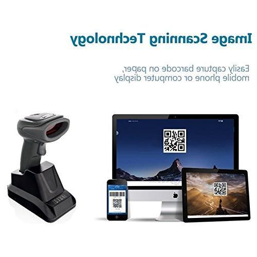 LS-PRO 2D QR wireless Bluetooth Scanner USB Cradle Charging Base matrix PDF417 image reader 100 long-life Warranty