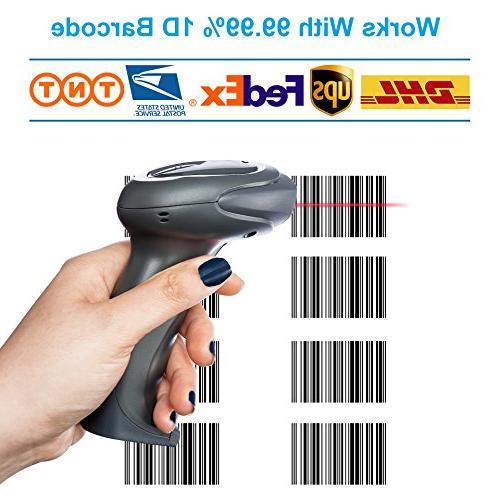 LS-PRO 2D QR Bluetooth Barcode Scanner USB Cradle Charging Base handheld 1D/2D Data matrix PDF417 100 ft Warranty
