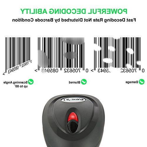 LS-PRO QR Bluetooth Barcode Scanner USB Base handheld Data matrix 100 ft long-life Year Warranty