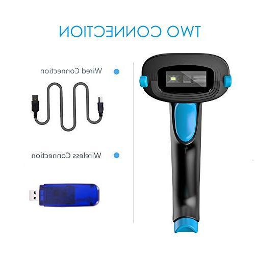 NADAMOO 2D Wireless Scanner Data Matrix Scanner Cordless Barcode for Payment