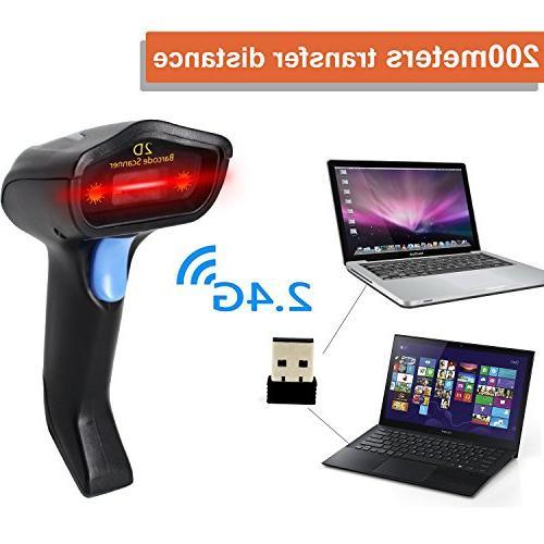 2D Wireless Scanner,Symcode Reader Long Transfer
