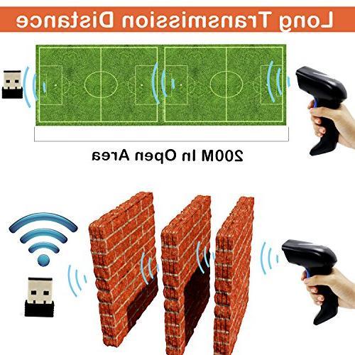 2D Wireless 2.4G CCD Bar Code Reader Distance Payment