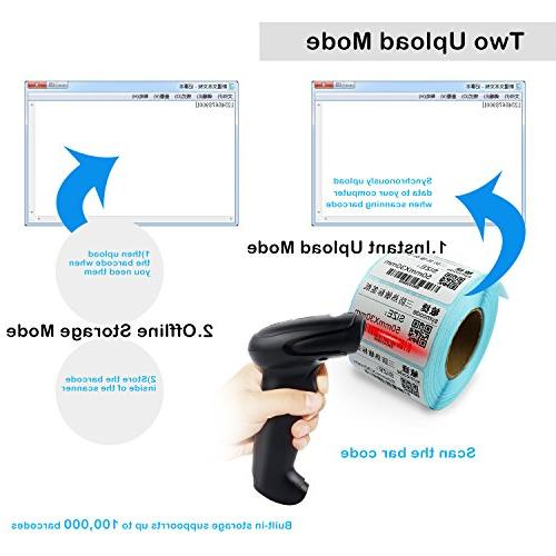 2D Barcode Scanner,Alacrity Datamatrix PDF417 Code Handheld for and Scan, Mac and Linux POS