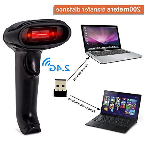 2D Wireless Datamatrix PDF417 Code Handheld for and Printed Scan, Works Mac POS
