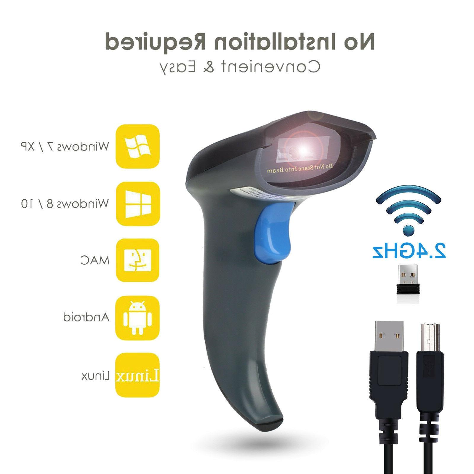wireless bluetooth 2 4g barcode scanner handheld