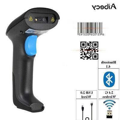 Aibecy 2.4G BT High Speed Wireless Wired USB 1D 2D Barcode S