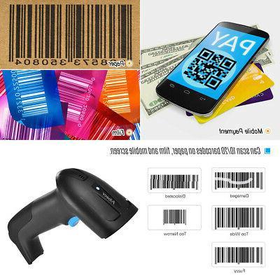 Aibecy Handheld Barcode Scanner BT Wireless 1D 2D Bar Code R