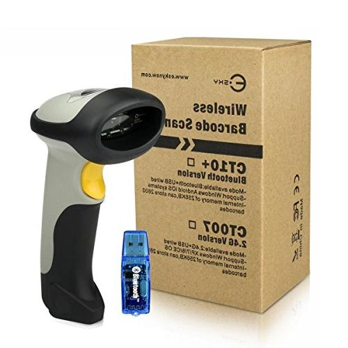 Barcode Scanner, 2.4GHz Wireless Barcode with