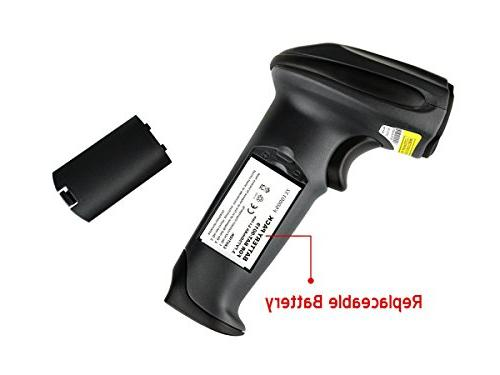 TaoTronics Wireless Cordless Handheld Barcode Bar Scanner 32-bit Moveable, Optional, Long-Range