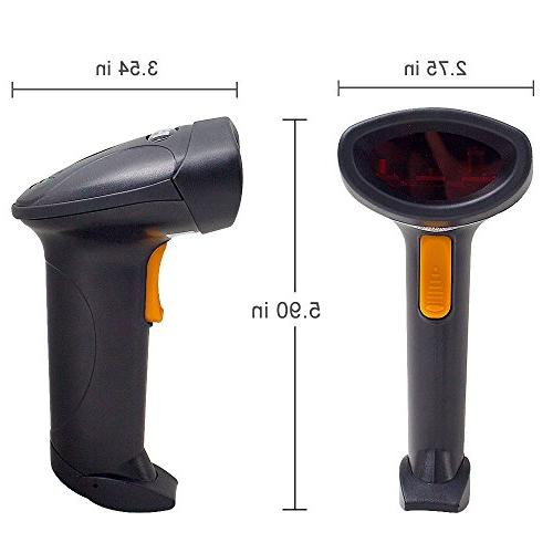 Vcall 2.4GHz Handheld Wireless USB Automatic Laser Scanner Receiver of up to for POS PC