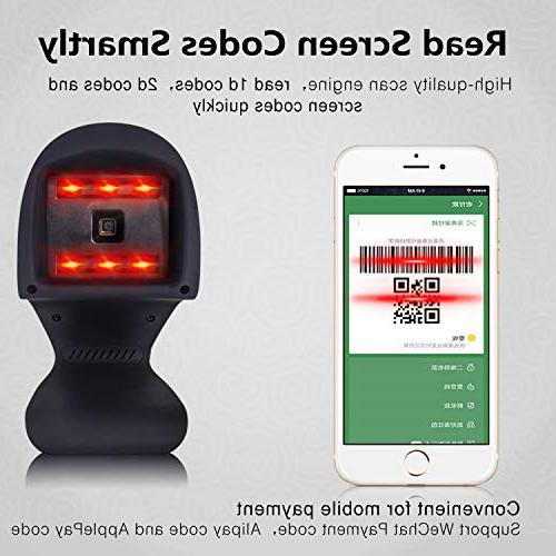 Automatic 2D Barcode Omnidirectional USB PDF417 Bar Code for Payment Computer Screen