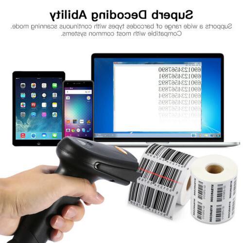 Wireless Laser Barcode Scanner Code Bluetooth