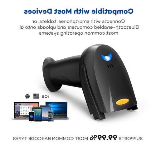 Automatic Wireless/Wired Barcode Scanner Gun Reader USB