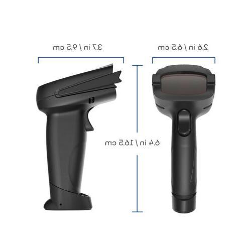 Automatic Wireless/Wired Bluetooth Scanner Gun Handheld Reader USB