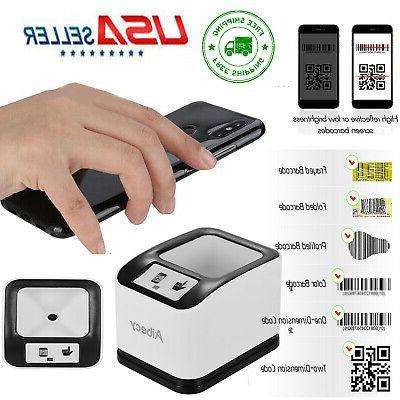 Aibecy 1D/2D/QR Bar Code Scanner Auto-Sensing CMOS Desktop B