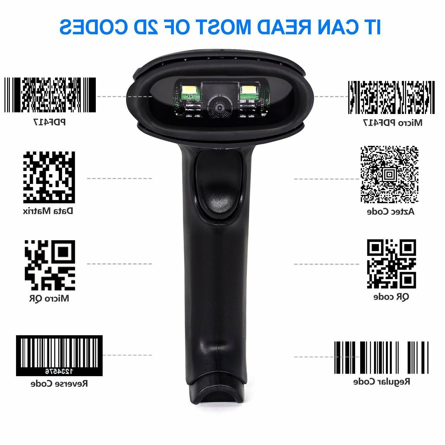 Barcode Scanner 1D QR Wired Bar Code Scanner