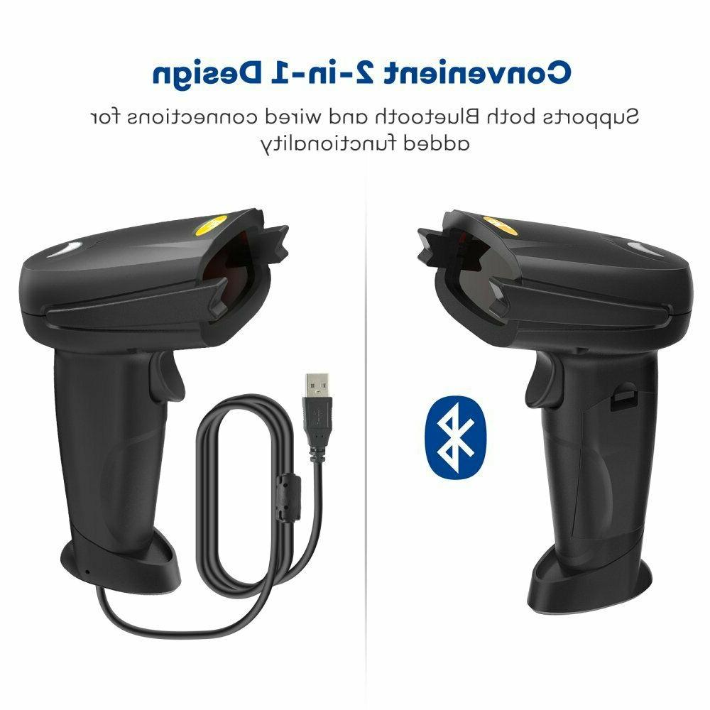 TaoTronics Barcode Scanner Bluetooth Wired Code Scanner