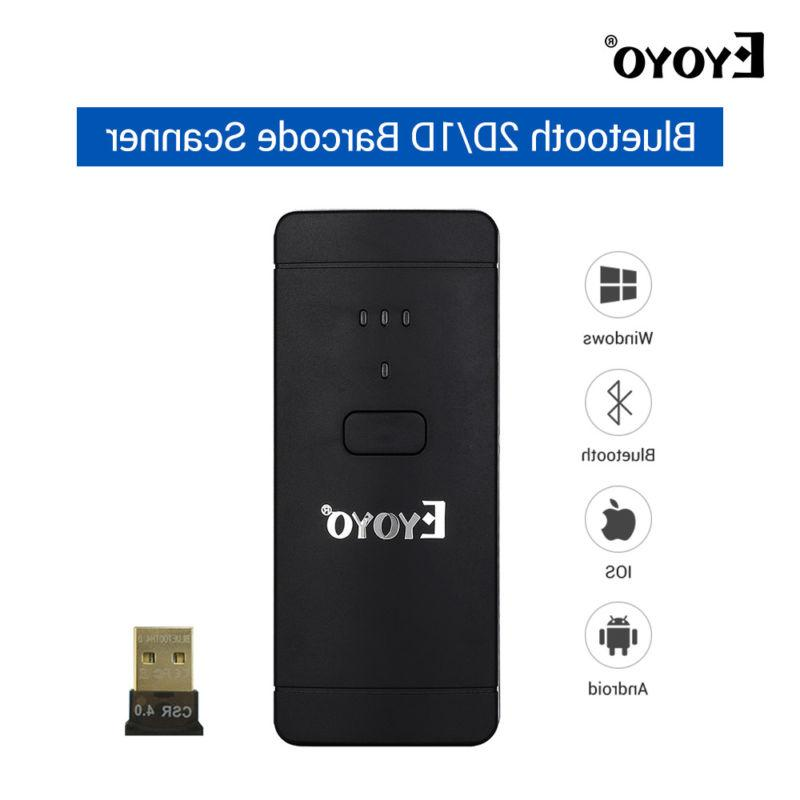 Eyoyo EY-002S Bar Code Scanner Wireless Long Standy for Wind