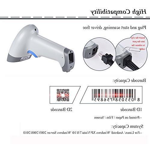 Aibecy Barcode Scanner, 2D QR 1D USB Barcode