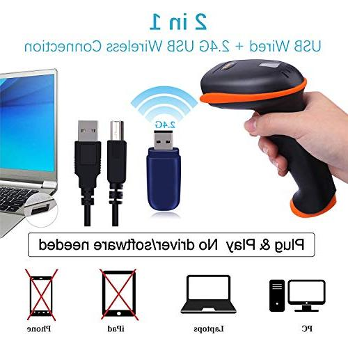 Tera Barcode Versatile 1D USB Handheld Bar Code Scanner with