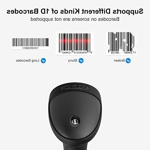 Inateck USB Barcode Scanner with Intelligent Wired,
