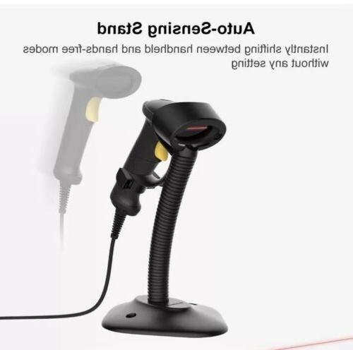 Inateck BCST-33 1D USB Wired Barcode Scanner