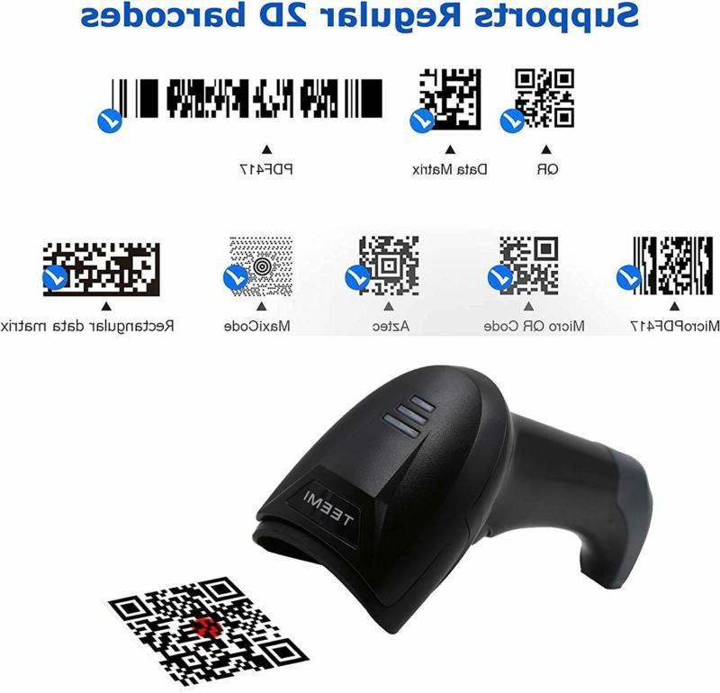 Teemi Bluetooth Scanner, Wall Mountable Usb Cradle