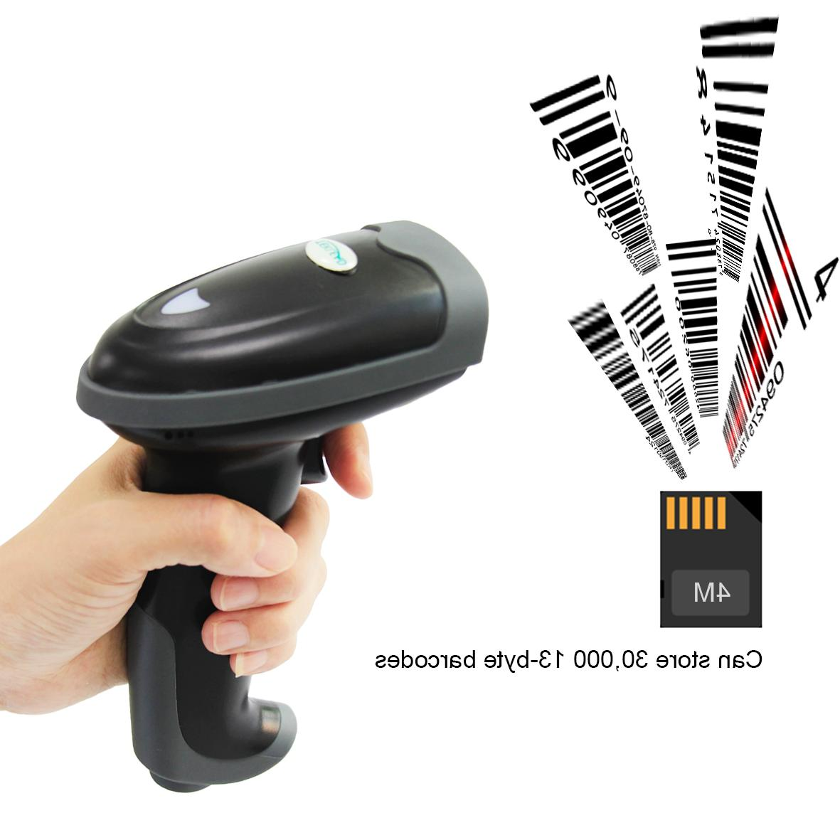 TEKLEAD Bluetooth Laser <font><b>Barcode</b></font> <font><b>Scanner</b></font> with Stand 1D Bar for Android tablet iPad